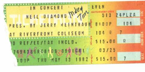 Ticket Stub 1982